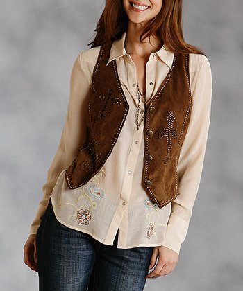 Brown Vest - Women