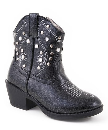 Black Crystal Cowboy Boot