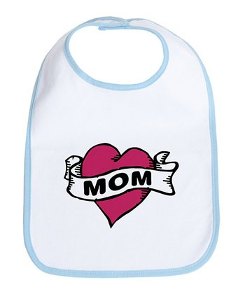Sky Blue 'Mom' Tattoo Bib