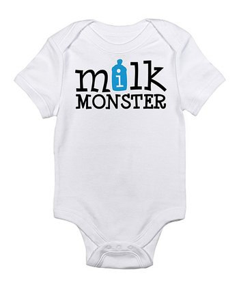 White 'Milk Monster' Bodysuit - Infant