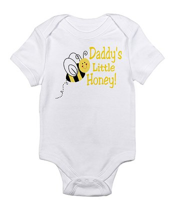 White 'Daddy's Little Honey!' Bodysuit - Infant