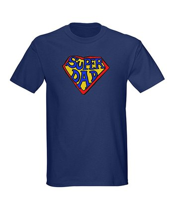 Navy 'Super Dad' Tee - Men