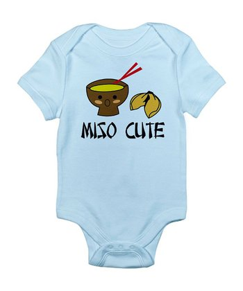 Sky Blue 'Miso Cute' Bodysuit - Infant