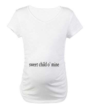 White 'Sweet Child O' Mine' Maternity Tee - Women