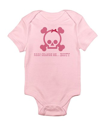 Pink 'Change Me Booty' Bodysuit - Infant
