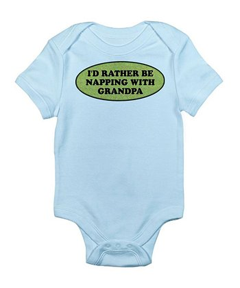 CafePress Sky Blue 'Rather Be Napping' Bodysuit - Infant