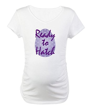 CafePress White 'Ready To Hatch' Maternity Tee