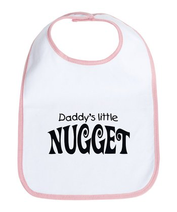 Petal Pink 'Daddy's Little Nugget' Bib