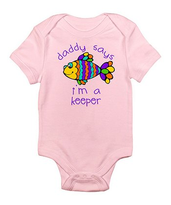 Petal Pink 'I'm a Keeper' Bodysuit - Infant
