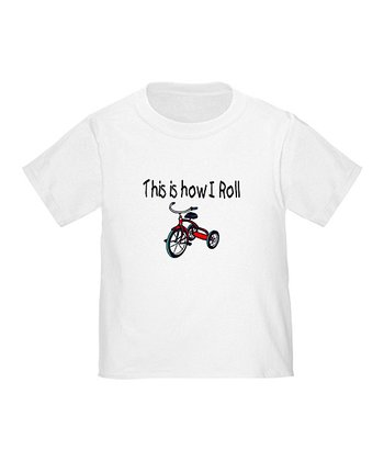 Cloud White 'This Is How I Roll' Tee - Toddler