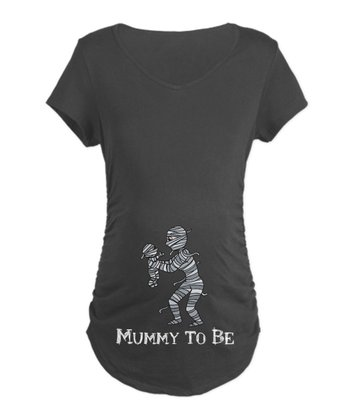 Charcoal 'Mummy To Be' Maternity Tee - Women