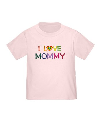 Pink 'I Love Mommy' Tee - Toddler