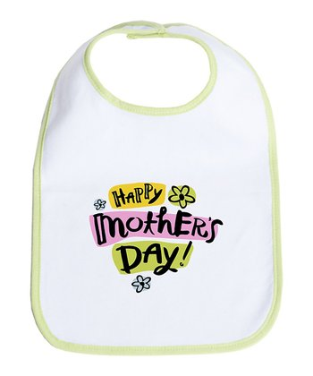 Kiwi & White 'Happy Mother's Day' Bib