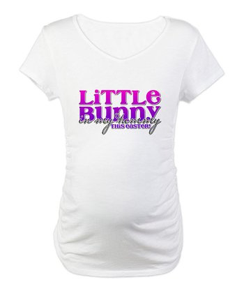 CafePress White 'Little Bunny' Easter Maternity Tee