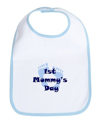 Blue & White '1st Mommy's Day' Bib