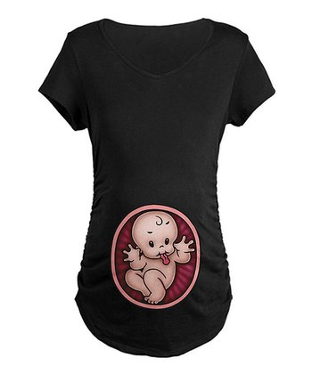 Black Razz Baby Maternity Tee - Women