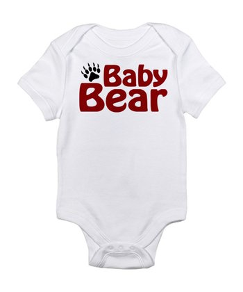 White 'Baby Bear' Bodysuit - Infant