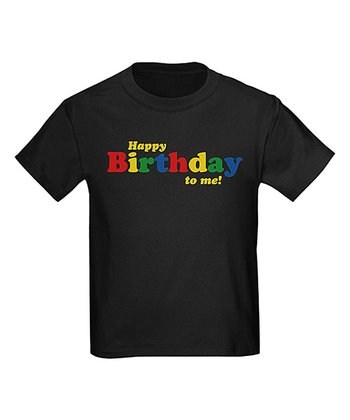 Black 'Happy Birthday to Me!' Tee - Kids