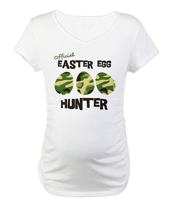 CafePress White Easter Egg Hunter Maternity Tee