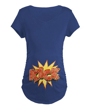Navy 'Kick' Maternity Tee - Women