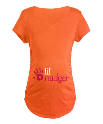 Coral 'Lil' Nudger' Maternity Tee - Women