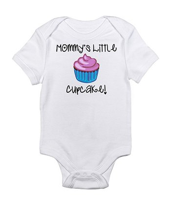 White 'Mommy's Little Cupcake' Bodysuit - Infant