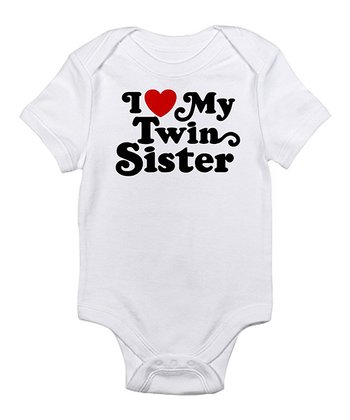 White 'I Love My Twin Sister' Bodysuit - Infant