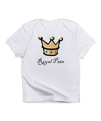 Cloud White 'Royal Pain' Tee - Infant