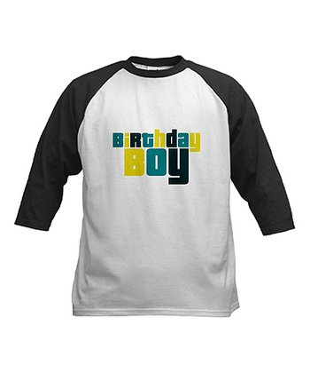 Black & White 'Birthday Boy' Raglan Tee - Boys