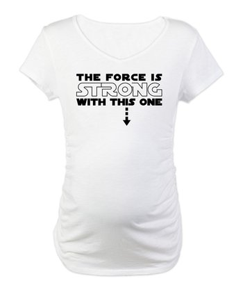 White 'The Force' Maternity Tee - Women