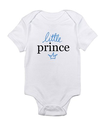 Cloud White 'Little Prince' Bodysuit - Infant