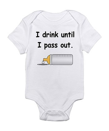 Cloud White 'I Drink Until I Pass Out' Bodysuit - Infant