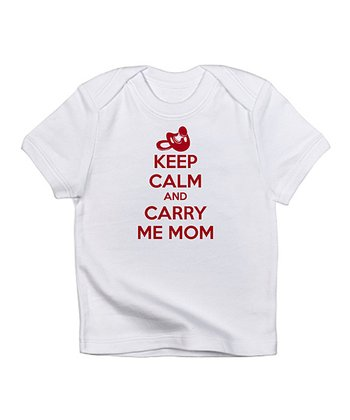 Cloud White 'Keep Calm' Tee - Infant