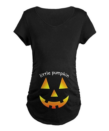 Black 'Little Pumpkin' Maternity Tee