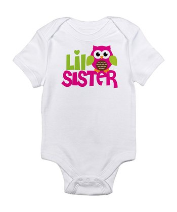 White ' Little Sister' Bodysuit - Infant