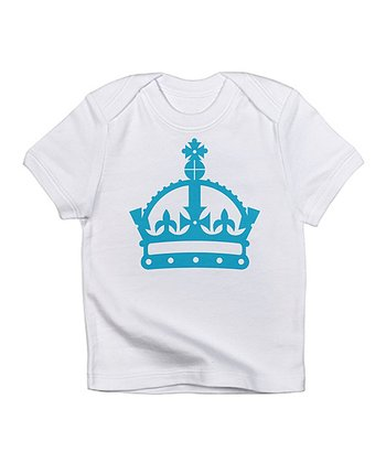 Cloud White & Blue Crown Tee - Infant