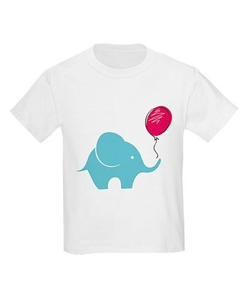 White Elephant Balloon Tee - Toddler & Kids
