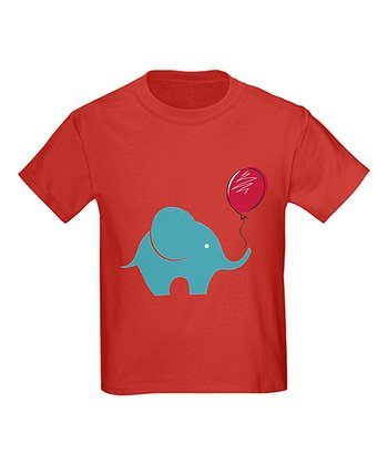Red Elephant Balloon Tee - Toddler & Kids