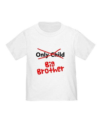 White 'Big Brother' Tee - Toddler