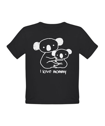 Black 'I Love Mommy' Tee - Toddler