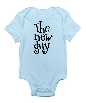 Sky Blue 'The New Guy' Bodysuit - Infant
