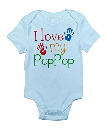 Sky Blue 'I Love PopPop' Bodysuit - Infant