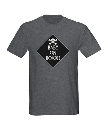 Charcoal 'Baby on Board' Tee - Men