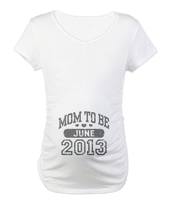 White 'Mom-to-Be' June Maternity Short-Sleeve Tee