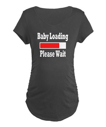 Charcoal 'Baby Loading' Maternity Tee - Women