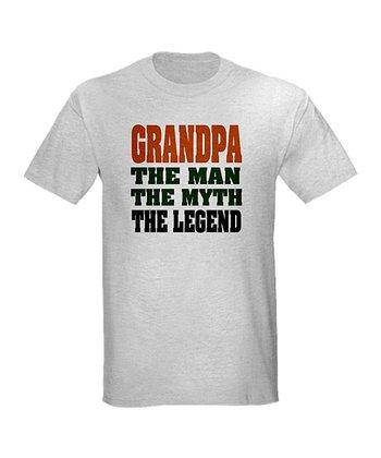 Ash Gray Grandpa 'The Legend' Tee - Men