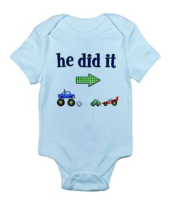 Sky Blue 'He Did It' Bodysuit - Infant