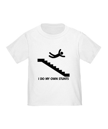 Cloud White 'I Do My Own Stunts' Tee - Toddler