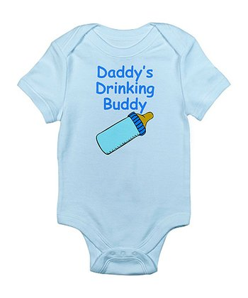 Sky Blue 'Daddy's Drinking Buddy' Bodysuit - Infant