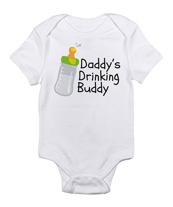 White 'Daddy's Drinking Buddy' Bodysuit - Infant